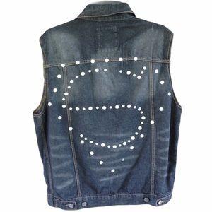 PJ Mark Retro Denim Jacket Size Large